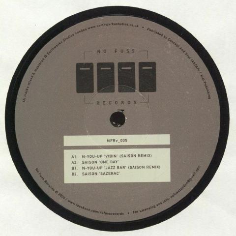 "(  NFRV 005 ) SAISON / N YOU UP NFRV 005 (140 gram vinyl 12"") No Fuss"