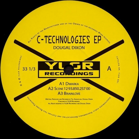 "( YLGR 001 ) Dougal DIXON - C Technologies EP (12"") YLGR Recordings"