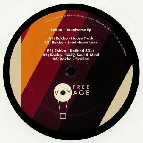 """( VOYA 002 ) ROKKO - Youniverse EP (12"""")  Freevoyage Italy"""