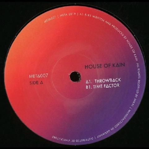 """( META 007 ) HOUSE OF KAIN - Throwback EP (12"""") Meta Music Germany"""