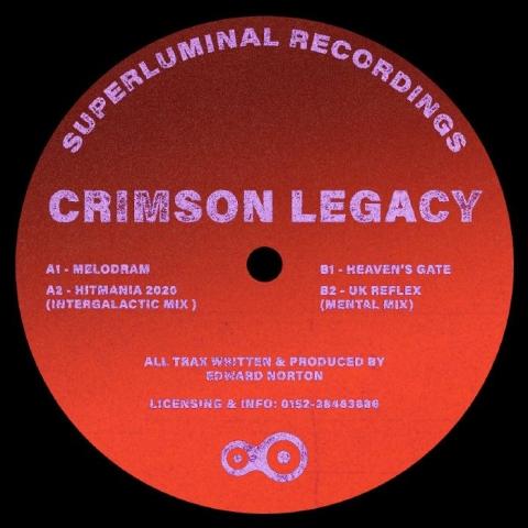 "( SUPLU 005 ) Edward NORTON - Crimson Legacy EP (12"") Superluminal Germany"
