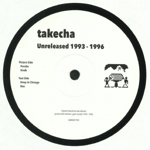 "( GWM 201709. Rel ) TAKECHA -  Unreleased 1993-1996 (12"") - GWM Japan"
