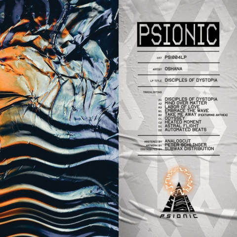 "( PSI 004LP ) OSHANA - Disciples Of Dystopia ( 2x12"" vinyl ) Psionic"