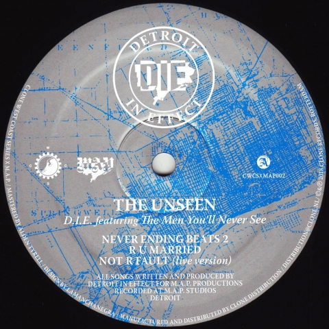 "( CWCSXMAP 002 ) DIE feat THE MEN YOU'LL NEVER SEE - The Unseen (12"") Clone West Coast Series Holland"