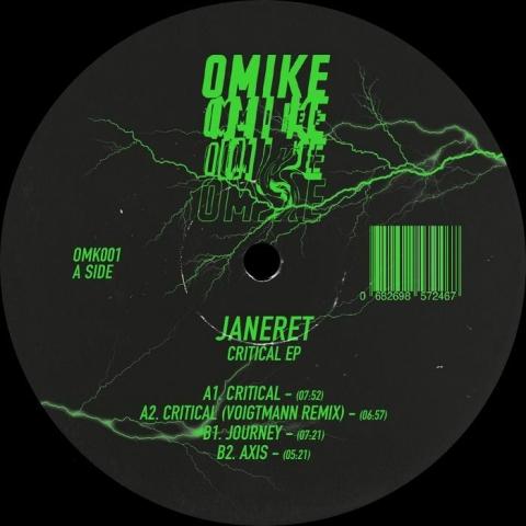 "(  OMK 001 ) JANERET - Critical EP (12"") Omike France"