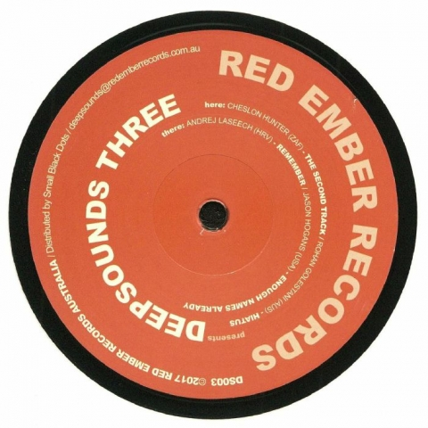 "( DS 003 ) Cheslon HUNTER / ROHAN GOLESTANI / ANDREJ LASEECH / JASON HOGANS - Deepsounds Three (12"") - Red Ember Australia"