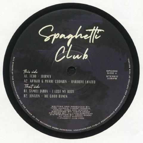 "( SPG 002 ) TC80 / ALEXKID / PIERRE CODARIN / SAMUEL JABBA / JENTZEN - Spaghetti Club 002 (12"") Spaghetti Club"