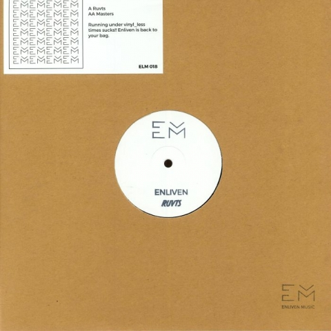 "( ELM 018 ) ENLIVEN - Ruvts EP (hand-stamped 12"" + sticker) Enliven Germany"