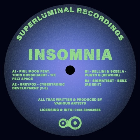 "( SUPLU 007 ) VARIOUS ARTISTS - Insomnia EP ( 12"" vinyl ) Superluminal"