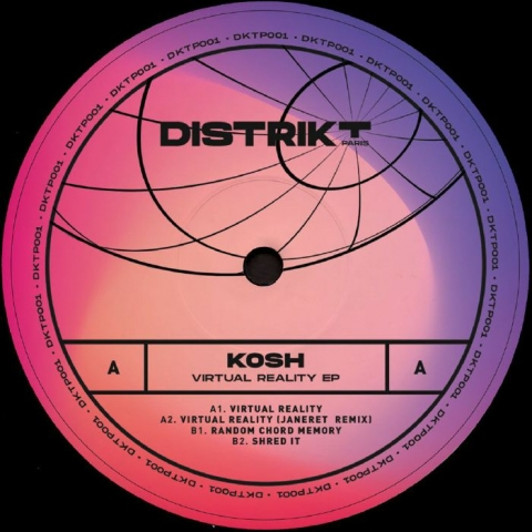 "( DKTP 001 ) KOSH - Virtual Reality EP (12"") Distrikt Paris France"
