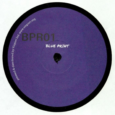 "( BPR01fc ) Unknown UNKNOWN (VINYL ONLY / BLUE COVER EDITION) 12""  Blue Vinyl RU - Blue Print"