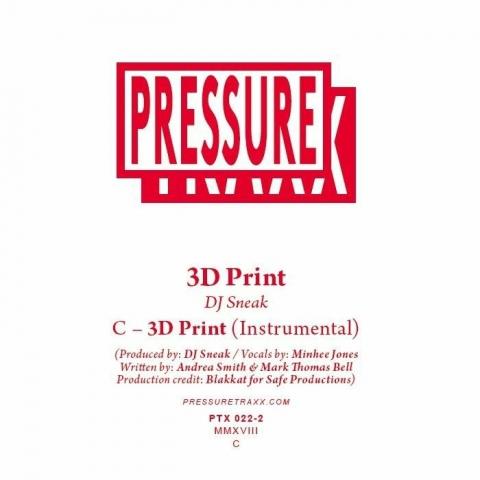 """( PTX 022.2 ) DJ SNEAK - 3D Print (limited clear vinyl 10"""") Pressure Traxx"""