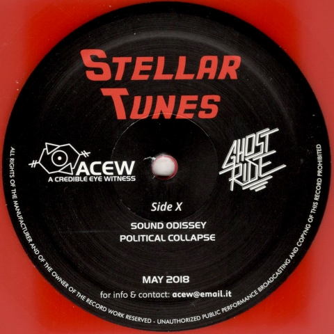 "( ACEW 007 ) A CREDIBLE EYE WITNESS & GHOST RIDE - Stellar Tunes (12"" red Vinyl Only) ACEW"