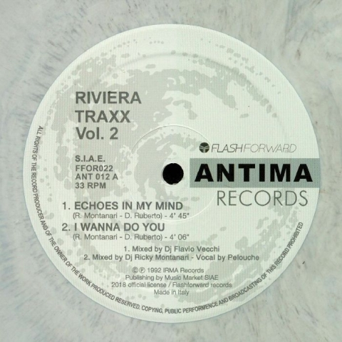"( FFOR 022LTD ) RIVIERA TRAXX - Vol 2 (numbered marbled 12"" limited to 100 copies) Flash Forward"