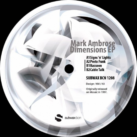 "( SUBWAXBCN 1208 ) Mark AMBROSE - Dimensions EP (12"") Subwax Bcn Spain"