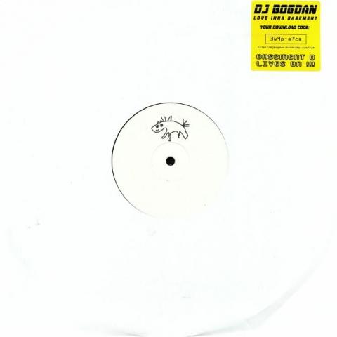 "(  NE 001GH ) DJ BOGDAN  - Love Inna Basement (hand-stamped 12"" + insert + MP3 download code) (1 per customer) unknown label"