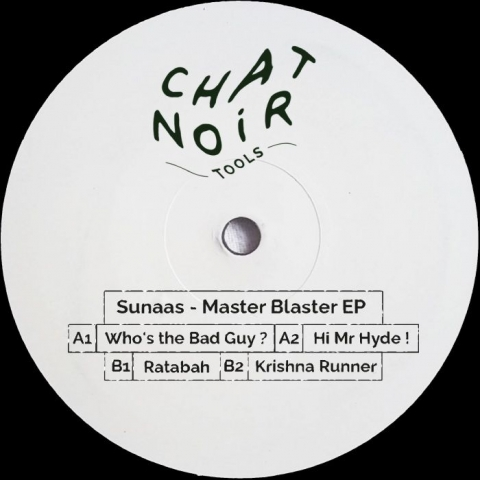 """( CNT 005 ) SUNAAS - Master Blaster EP (12"""") Chat Noir Tools France"""