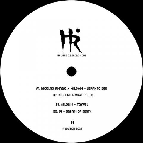 """( HR 001 ) VARIOUS ARTISTS - Holistico Records 001 ( 12"""" vinyl ) Holistico Records"""