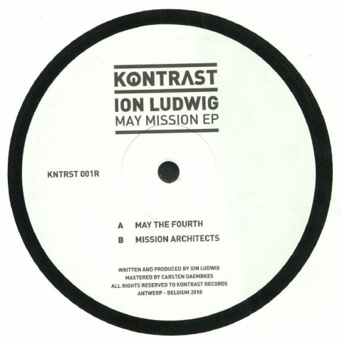 "( KNTRST 001R ) Ion LUDWIG - May Mission EP (12"") (1 per customer) Kontrast Music"