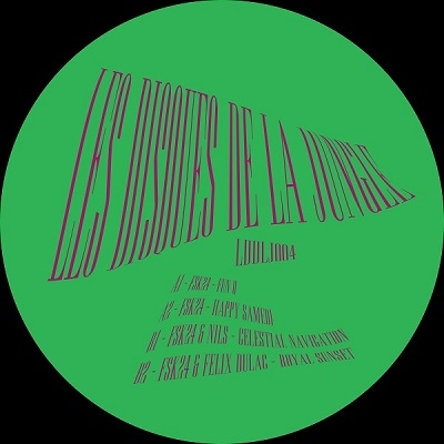 """( LDDLJ 004 ) FSK24 / FSK24 & NILS / FSK24 & FELIX DULAC -  Les Disques De La Jungle 004 (LTD COPIES 12"""") Les Discques De La Jungle"""