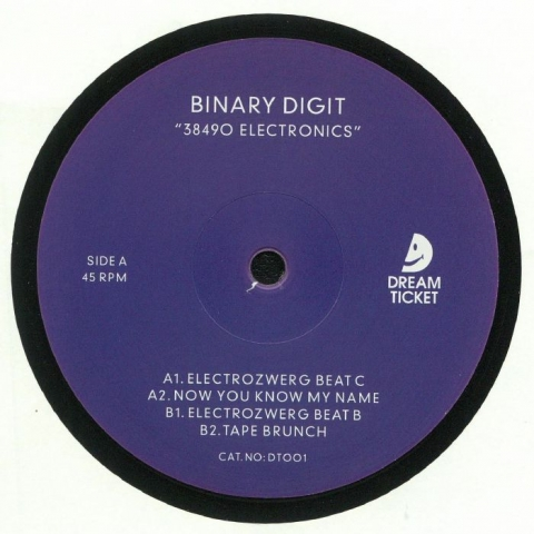 "( DT 001 ) BINARY DIGIT - 38490 Electronics (12"") Dream Ticket Portugal"