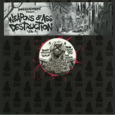 "( DMT 07 ) BLUNT INSTRUMENTS / RON OBVIOUS / PER HAMMAR - Weapons Of Ass Destruction Vol 1 (180 gram vinyl 12"") - Dungeon Meat"