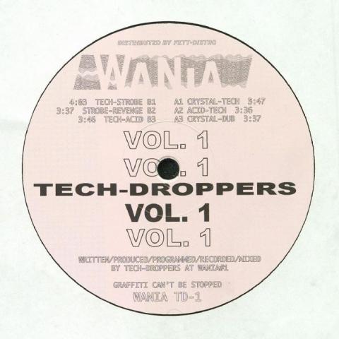 """( WANIA TD 1 ) TECH DROPPERS - Tech Droppers Vol 1 (12"""") Wania Norway"""