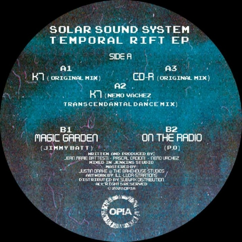 "( OPIA 007 ) SOLAR SOUND SYSTEM / JIMMY BATT / PO - Temporal Rift EP (12"") Opia"