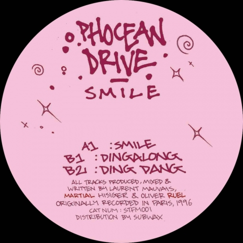 """( STFM 001 ) PHOCEAN DRIVE - Smile ( 12"""" reissue ) Sex Tapes From Mars"""