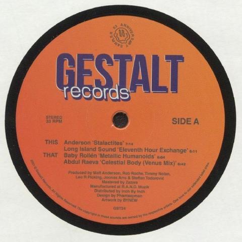 "( GST 24 ) ANDERSON / LONG ISLAND SOUND / BABY ROLLEN / ABDUL RAEVA - Anniversary Sampler 03 (12"") Gestalt Estonia"