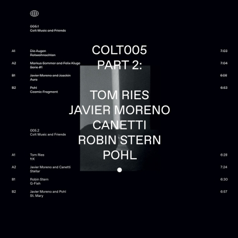 "( COLT 005.2 ) Tom RIES / JAVIER MORENO / CANETTI / ROBIN STERN / POHL - Colt Music & Friends Part 2 (12"") Colt music"