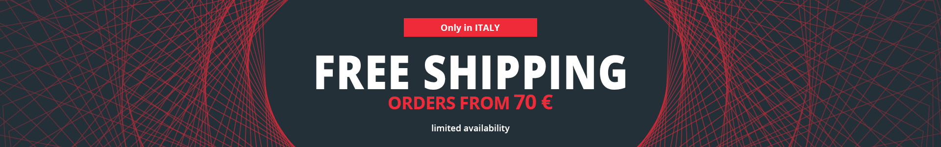 free shipping in Italy from order 70 euro